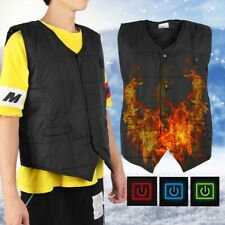 USB Electric Heated Warm Vest Winter Rechargeable Heating Coat Jacket For Male