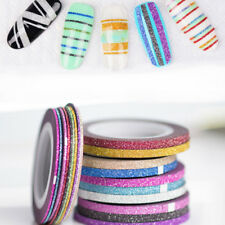 PW_ BU_ HK- 6Pcs Mixed Rolls Striping Tape Line DIY Nail Art Tips Decoration S