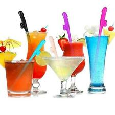 10pcs Hens Night Bachelorette Adult Party Willy Plastic Sipping Dicky Straw Y5Z9