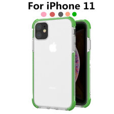 For iPhone 11 Pro Max XR XS X 8 7 Plus Shockproof Silicone Case Clear Soft Cover