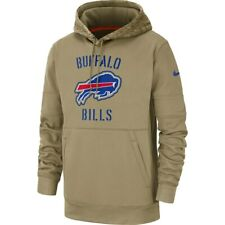 New 2019 Nike Buffalo Bills Salute To Service Sideline Therma Pullover Hoodie