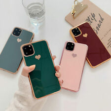 Luxury Plating Love Heart Soft Case Cover For iPhone 11 Pro Max XS XR 8 7 Plus 6