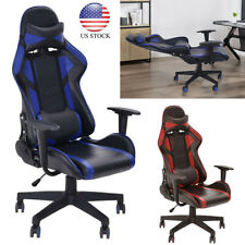 Gaming Chair Racing Style Leather Office Recliner Computer Seat Swivel
