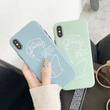 For iPhone X XS Max XR 6 7 8 Plus Frosted Artist David Silicone Phone Case Cover