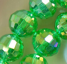 10x12mm Faceted Lime Rainbow AB Crystal Beads 36pcs