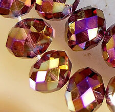 7x10mm Faceted Rainbow AB Crystal Rondelle Beads 35pcs
