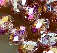 4x6mm Faceted Rainbow AB Crystal Beads 99pcs