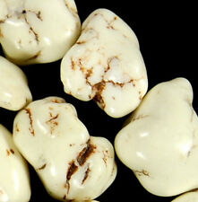"""13x17mm White Fire Turquoise Nugget Beads 16"""""""