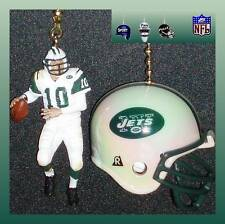 NFL NEW YORK JETS QUARTERBACK FIGURE & CHOICE OF HELMET CEILING FAN PULLS