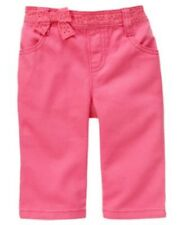 GYMBOREE FAIRY FASHIONABLE PINK EYELET BOW WOVEN PANTS 3 618 24 3T NWT