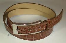 WOMAN DESIGNER SKINNY CROCODILE BROWN DRESS BELT