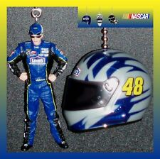 NASCAR-JIMMIE JOHNSON FIGURE & CHOICE OF A RACING HELMET OR A RACE CAR FAN PULLS