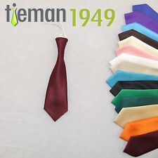 Adjustable Size Italian Satin Boys Elastic Wedding Tie