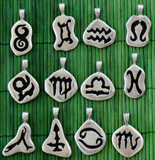 Select One Fortune Astrology Horoscopes Zodiac Psychic Tarot sign pewter pendant