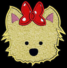 Applique Puppy Dog Face Machine Embroidery Design CD