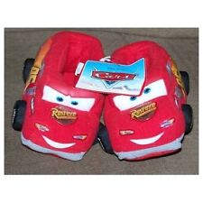 Disney Pixar's CARS Lightning McQueen boys Red Slippers NEW Sleep shoes slip ons