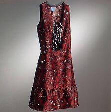 ***nwt Simply Vera Vera Wang Floral Sequin Wide-Ruffled Bottom *Back Sash* Dress