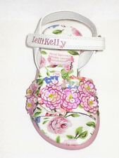 Lelli Kelly 8511 FIOR DI PESCO 1 White Sandals shoes NEW Pink Flower Hand Beaded