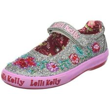 Lelli Kelly Pretty Baby Pewter silver shoes Mary Jane Dolly New Tennis Sneakers