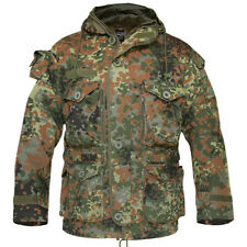 MILITARY PATROL SMOCK ARMY COMBAT PARKA MENS LONG JACKET BW FLECKTARN CAMO S-3XL