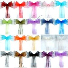 25PCS Organza Chair Sashes Bow Wedding Cover Banquet