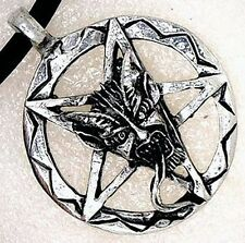 Inverted Pentacle Pentagram Lucifer Satan LaVeyan Devil's face PEWTER PENDANT