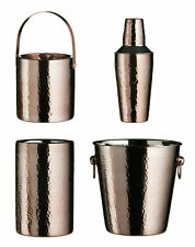 NEW Bronze Hammered Effect Stainless Steel Champagne Ice Bucket Bar Accessory