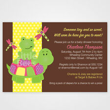20 Turtle and Frog Fun Baby Shower Invitations