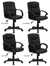 Office or Home Office Furniture Mid-Back Leather Chairs