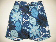 GYMBOREE SNOWBOARD LEGEND FLORAL SWIM TRUNKS 12 18 2T NWT