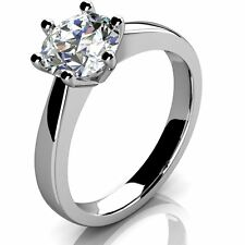 Diamond Solitaire Ring 9k White Gold - Engagement Ring