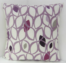 TRENDY 50S STYLE LILAC MAUVE OFF WHITE PURPLE SCATTER CUSHION COVERS