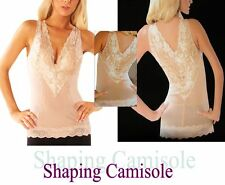 SHAPING Camisole 6736 LACE Top Chemise NUDE/BLACK Magic Curves S M L XL 2XL