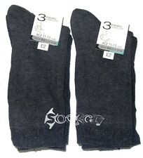 12 Pairs Boys Grey School Cotton Socks Shoe Sizes 6-5