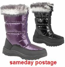 Womens fashion boots  size 3,4,5,6,7,8    ladies fashion snow look boots