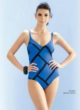 Seaspray 'Nice' V-neck One piece Control Swimsuit with adjustable straps blue 12