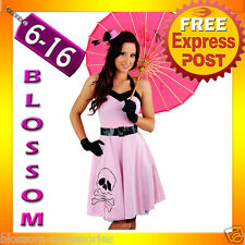 E67 Ladies  50s Vintage Rockabilly Pin Up Swing Halloween Fancy Dress Costume