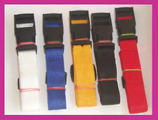 19MM Golf Trolley webbing straps COLOURED 1Meter , 1.5meter Luggage straps x 2