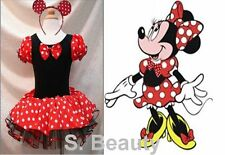 NWT Disney Minnie Mouse Costume Party Tutu Dresses Dance Ballet Leotard Se: 1-6T