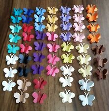 30 3d PEARLESCENT SHIMMERY BUTTERFLY Wedding Table Confetti Topper MANY COLOURS