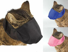 Comfort Lined nylon Hooded CAT adjustable Muzzle Pet Grooming Full Face sz S M L