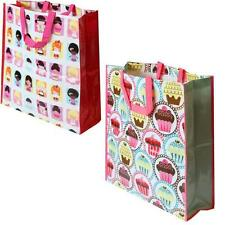 Large Woven Plastic Womens Strong Grocery Shopping Bag