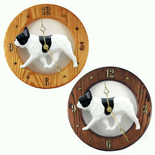 French Bulldog Oak Wall Clock. In Home, kitchen, Living Room or Den Products.