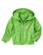 GYMBOREE BURST OF SPRING GREEN SUNSHINE HOODED KNIT JACKET 3 4 5 6 7 8 NWT