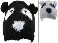 1 x Kids Animal Bear Panda Beanie Hat. Knitted. Wooly Monster. Winter Ski Beanie
