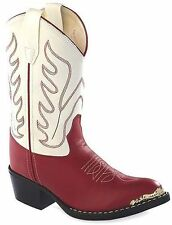 Kids Red & White Cowgirl Boots