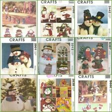 OOP McCalls Christmas Snowman Holiday Sewing Pattern XMAS Snow Man Snowmen