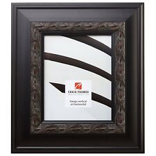 """Picture Frame Ornate Weathered Black 3.5"""" Wide Complete New Wood Frame (9204)"""