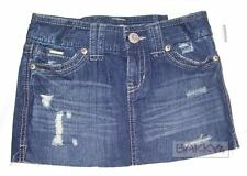 Womens AEROPOSTALE Denim Jean Straight Mini Skirt NWT #0144