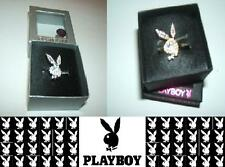 Playboy Crystal Bunny ring Size 6 adjsutable a bit- Gold tone or Silver Tone NEW